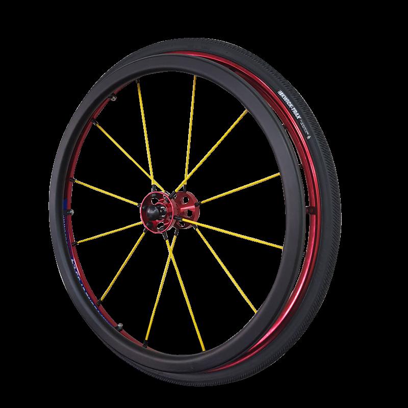 C024 Wheel with Oval-shape Alum Handrim